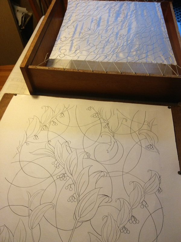 Pierwsze kroki malowania na jedwabiu, szkice i szuflady