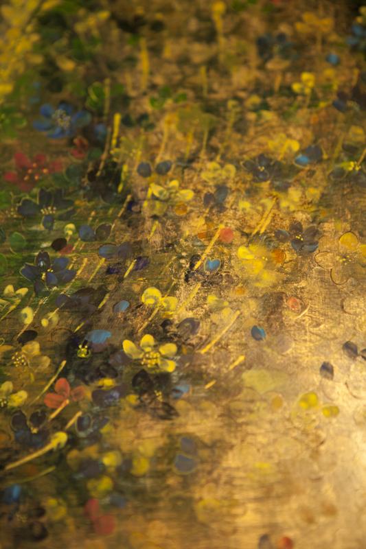 "ogień; fragment portretu ""Buenos Aires"", tempera na desce"