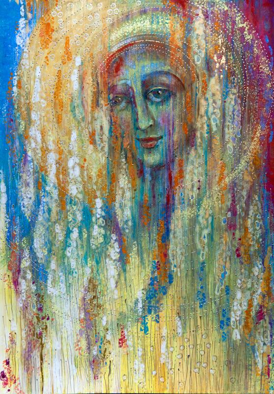 """Współczesna ikona; portret duszy """"Bella Donna czyli Spełnienie"""", 42 x 60 cm"""