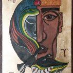 Dorota Szpil; Portret duszy, tempera na desce