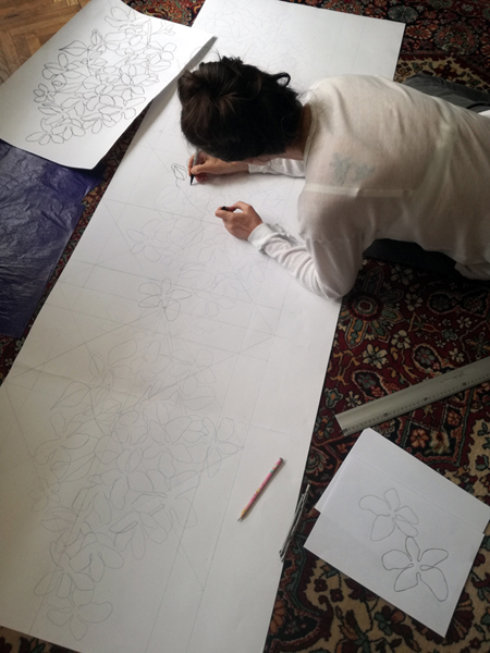 Projektowanie wzoru szala; Dorota Szpil