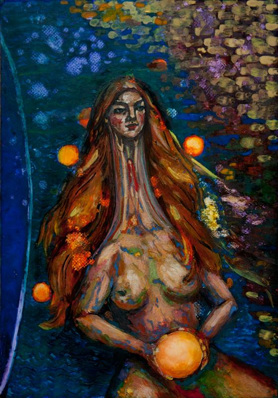 Wolność, portret duszy, tempera na desce, Dorota Szpil, 2020