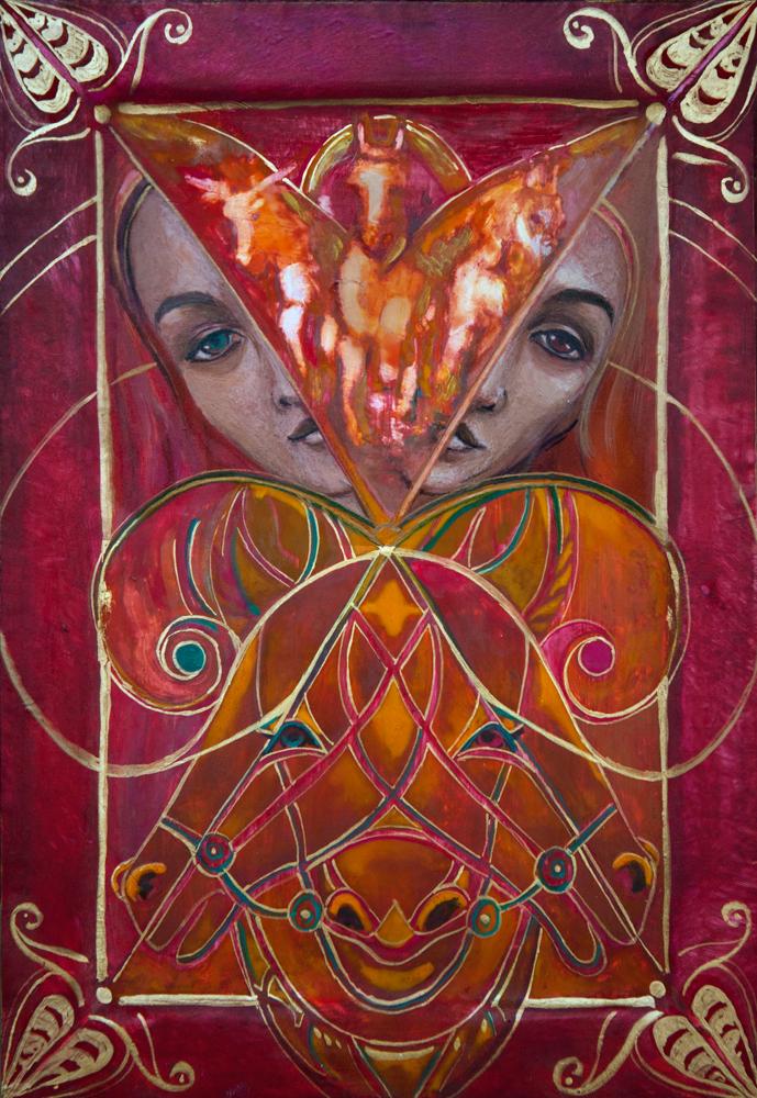 """""""Natchnienie"""", portret duszy, 28x19,5 cm, Dorota Szpil, 2021"""