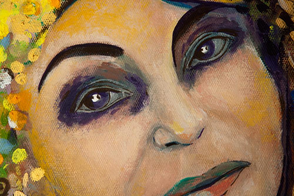 Obecność, fragment z twarzą, Dorota Szpil, 2021